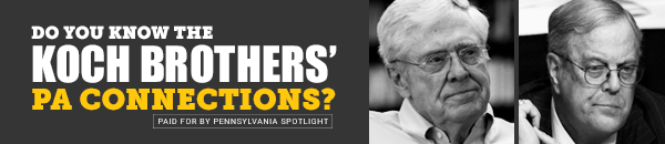 """PENNSYLVANIA SPOTLIGHT"" CONNECTS THE DOTS BETWEEN COMMONWEALTH FOUNDATION & KOCH BROTHERS"