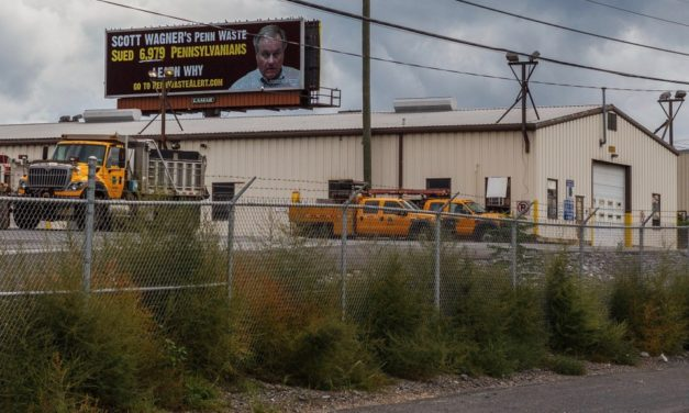 Scott Wagner's 'strong arm' collection tactics are focus of Rt. 581 billboard
