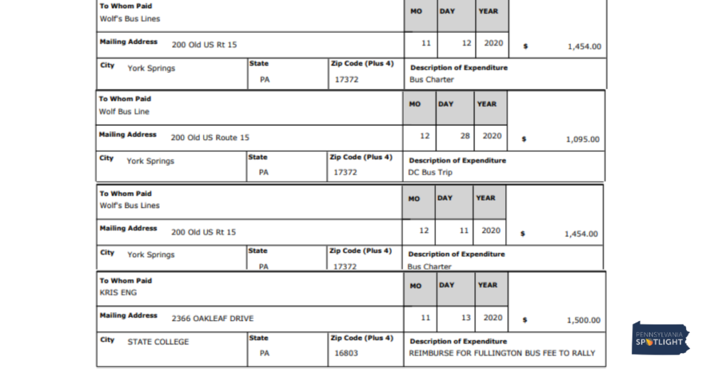 "Alt= ""Screenshots of the Wolf Bus Line payment."""