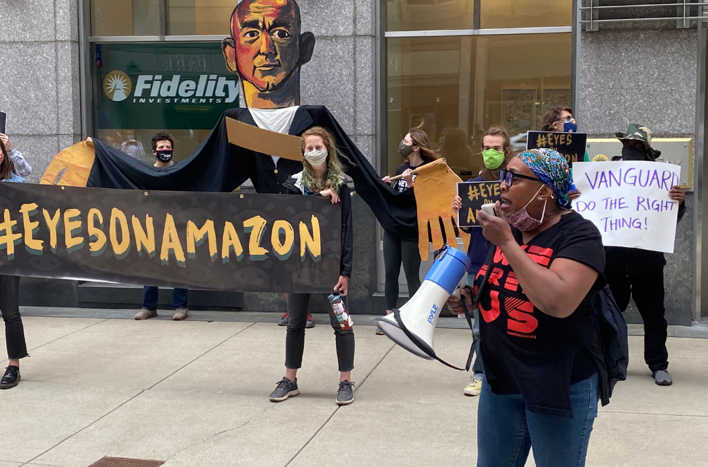 #EyesOnAmazon Protest in Philly Led by Activists