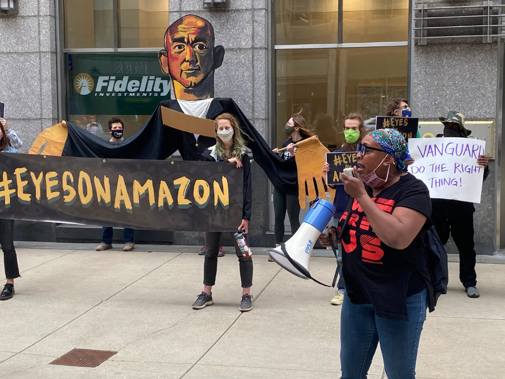 Eyes on Amazon Protest