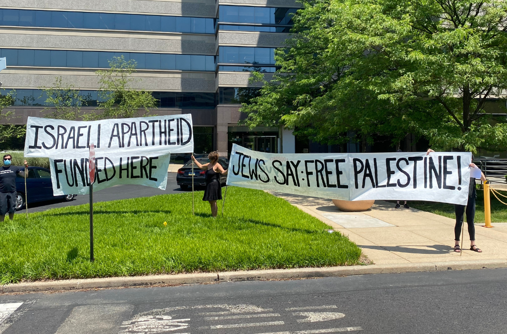 Jewish Voice for Peace Protest Jeffrey Yass Inside His Corporate HQ