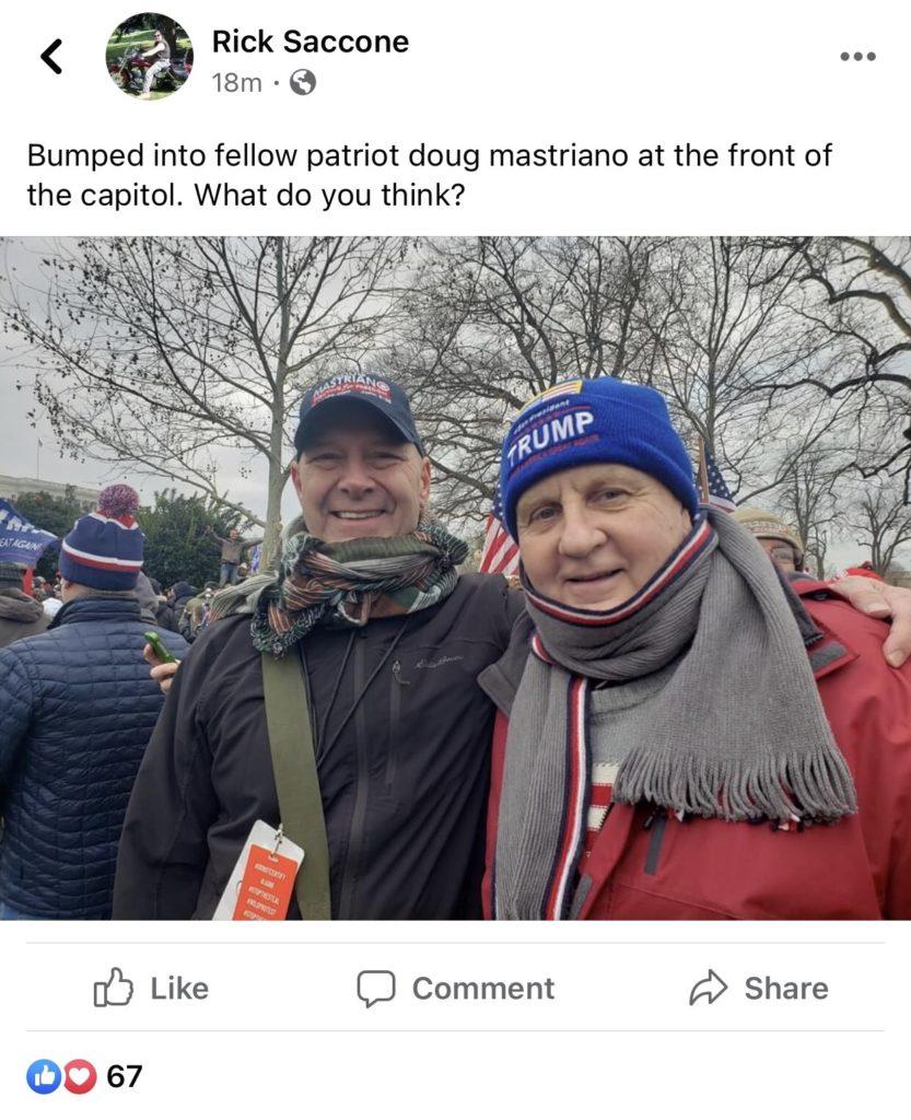 Pennsylvania State Representative Rick Saccone and Senator Doug Mastriano