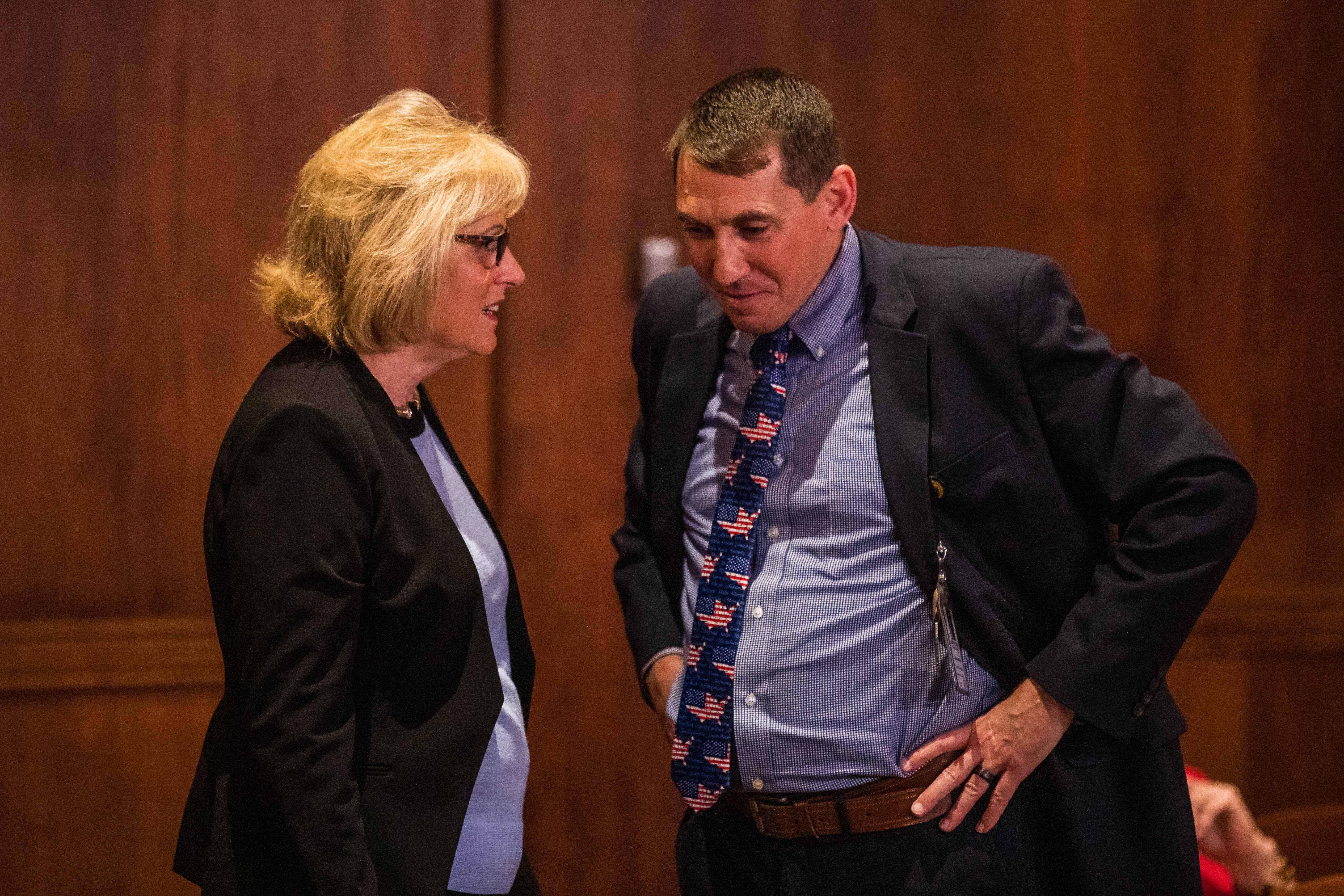Cris Dush Chief of Staff Speaking With Abby Abildness Before Hearing